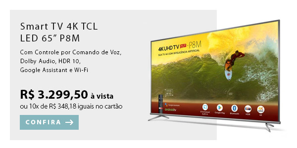 BANNER EX1- Smart TV 4K TCL LED 65
