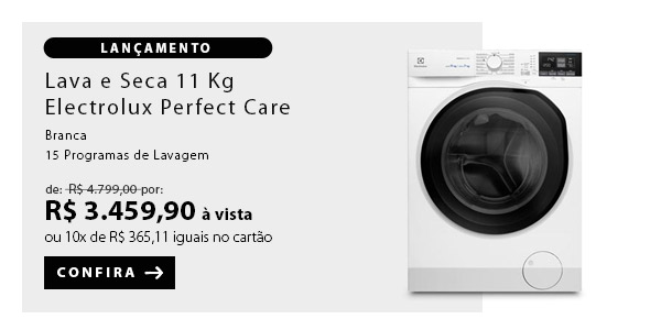 BANNER EX1 - Lava & Seca 11 Kg Electrolux Perfect Care