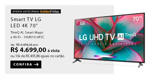 "BANNER 1 - Smart TV LG LED 4K 70"" com ThinQ AI, Smart Magic e Wi-Fi - 70UN7310PSC"