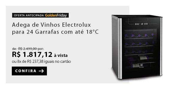 BANNER 6 - Adega de Vinhos Electrolux para 24 Garrafas com até 18° C