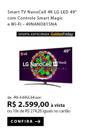 "PRODUTO 1 - Smart TV NanoCell 4K LG LED 49"" com Controle Smart Magic e Wi-Fi - 49NANO81SNA"