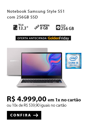 PRODUTO 5 - Notebook Samsung Style S51 com 256GB SSD
