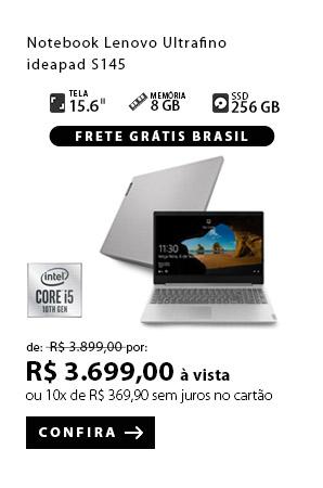 PRODUTO 6 - Notebook Lenovo Ultrafino ideapad S145