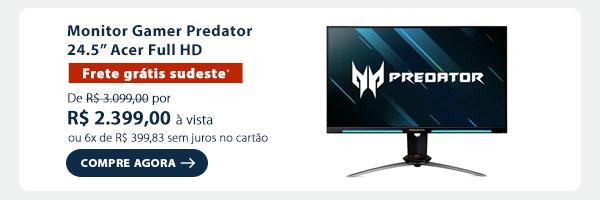 Monitor Gamer Predator 24.5 Acer Full HD