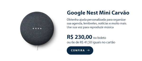 Google Nest Mini Carvão
