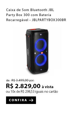 PRODUTO 2 - Caixa de Som Bluetooth JBL Party Box 300 com Bateria Recarregável - JBLPARTYBOX300BR