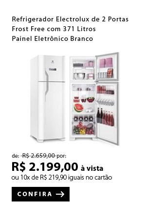 PRODUTO 8 - Refrigerador Electrolux de 02 Portas Frost Free com 371 Litros Painel Eletrônico Branco