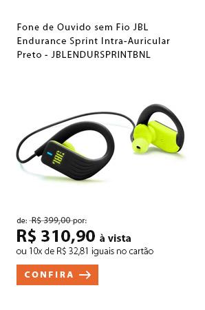 """PRODUTO 2 - """"Fone de Ouvido sem Fio JBL Endurance Sprint Intra-Auricular Preto"""