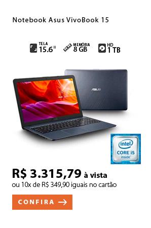 PRODUTO 9 - Notebook Asus VivoBook 15, Intel® Core™ i5