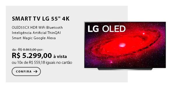 "BANNER 2 - Smart TV LG 55"" 4K OLED55CX HDR WiFi Bluetooth Inteligência Artificial ThinQAI Smart Magic Google Alexa"
