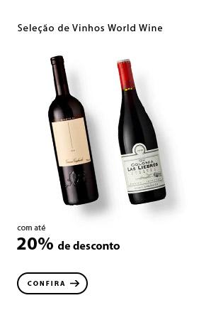 PRODUTO 12 - Seleção de Vinhos World Wine - Bebidas com até 20% de desconto! Aprecie!