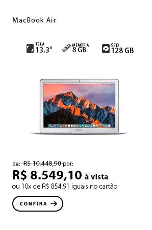 "PRODUTO 6 - MacBook Air 13"" 128gb Intel Core i5 (2017) Silver - MQD32LL/A"