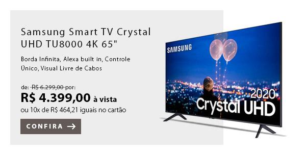 "BANNER EX1 - Samsung Smart TV Crystal UHD TU8000 4K 65"""