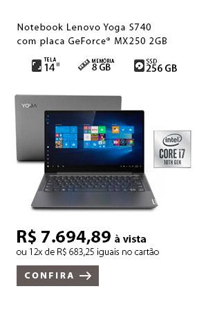 PRODUTO EX1 - Notebook Lenovo Yoga S740 com placa GeForce® MX250 2GB