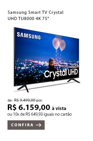 "PRODUTO 1 - Samsung Smart TV Crystal UHD TU8000 4K 75"""