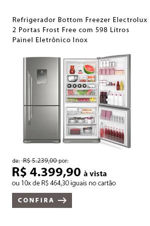 PRODUTO EX1 - Refrigerador Bottom Freezer Electrolux