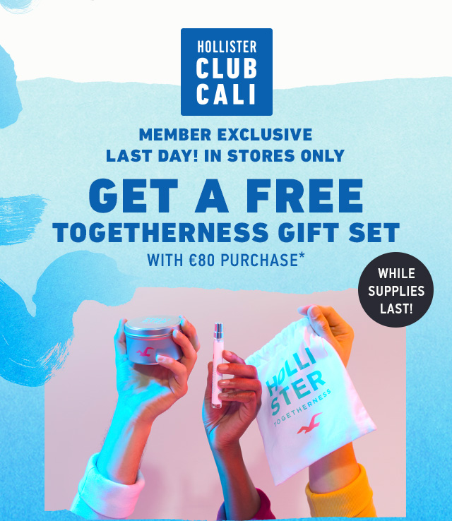 CLUB CALI: FREE GENDER NEUTRAL GIFT BAG WITH €80 PURCHASE