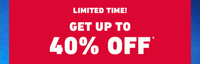 HOLLISTER SALE: UP TO 40% OFF SELECT STYLES