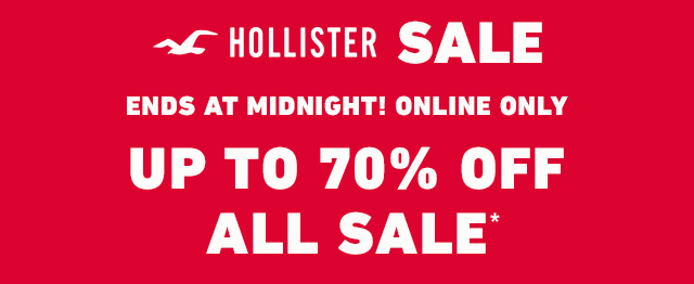 HOLLISTER SALE: ALL SALE UP TO 70% OFF