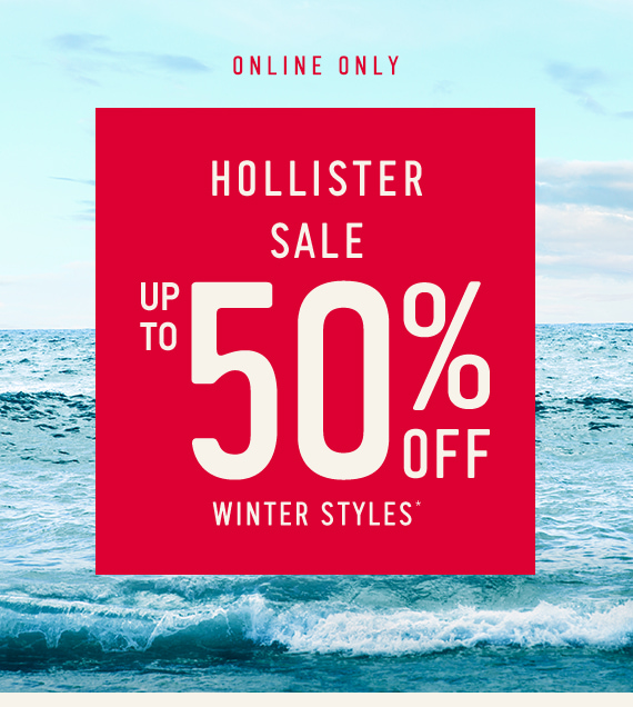 Hollister Sale: Up to 50% Off*