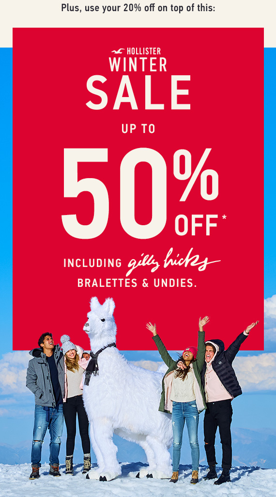 Hollister Sale Up to 50% Off*