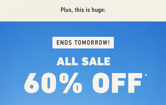 All Sale 60% Off*