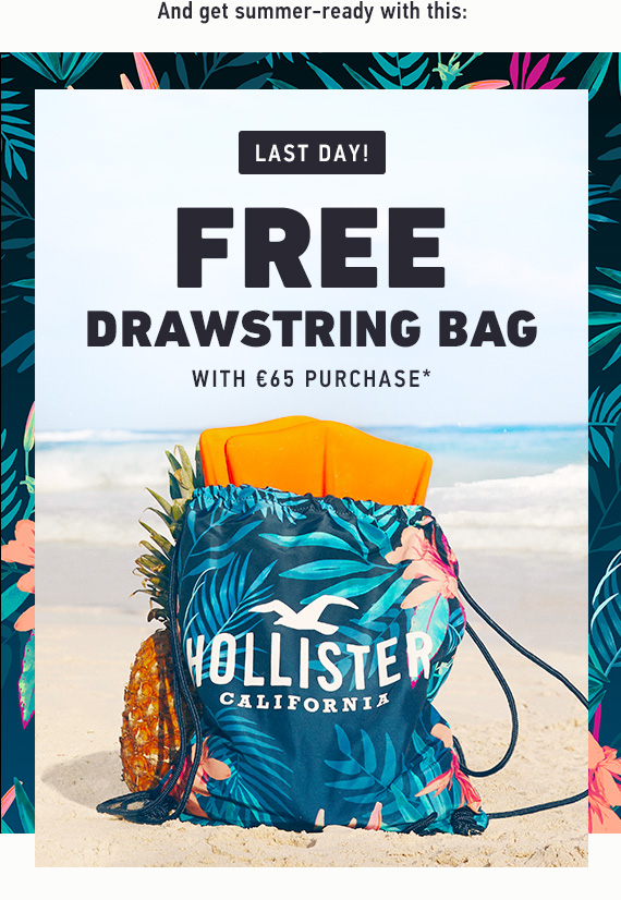 FREE DRAWSTRING BAG WITH €65 PURCHASE*