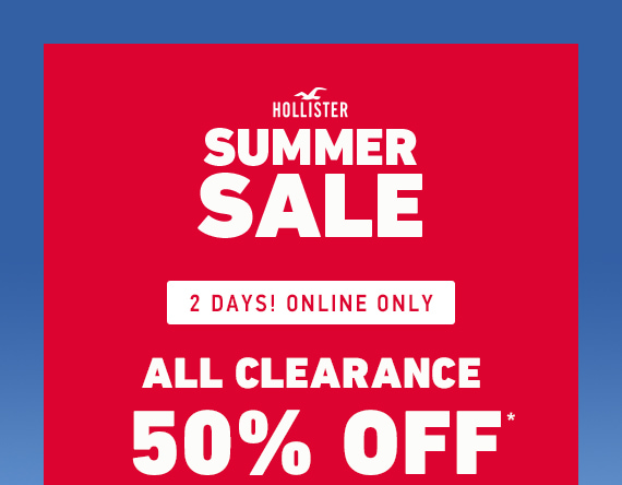 ALL CLEARANCE 50% OFF