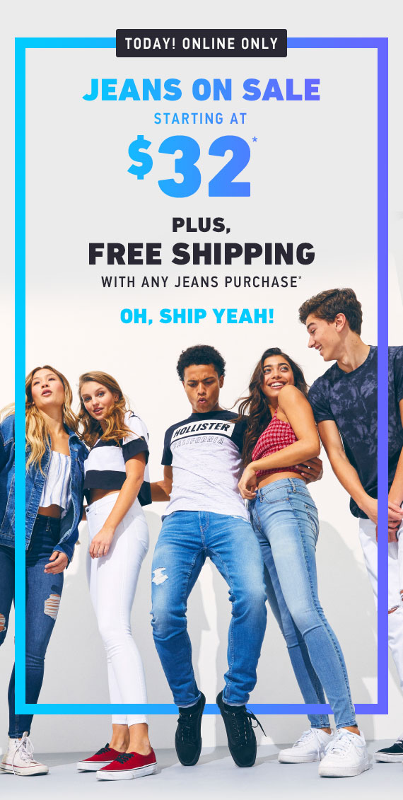 JEANS ON SALE STARTING AT $32 + FREE SHIPPING W/ JEANS PURCHASE