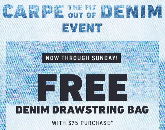 Free Drawstring Bag w/ $75 Purchase*