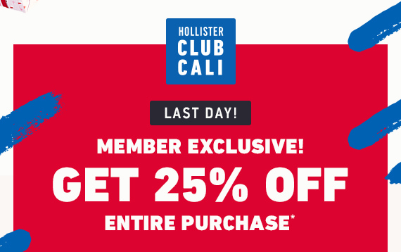 CLUB CALI EXCLUSIVE 25% OFF ENTIRE PURCHASE
