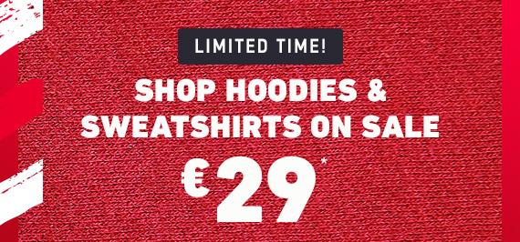 HOODIE & SWEATSHIRT SALE €29