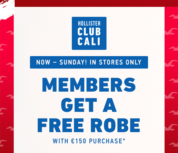 CLUB CALI: FREE ROBE WITH €150 PURCHASE