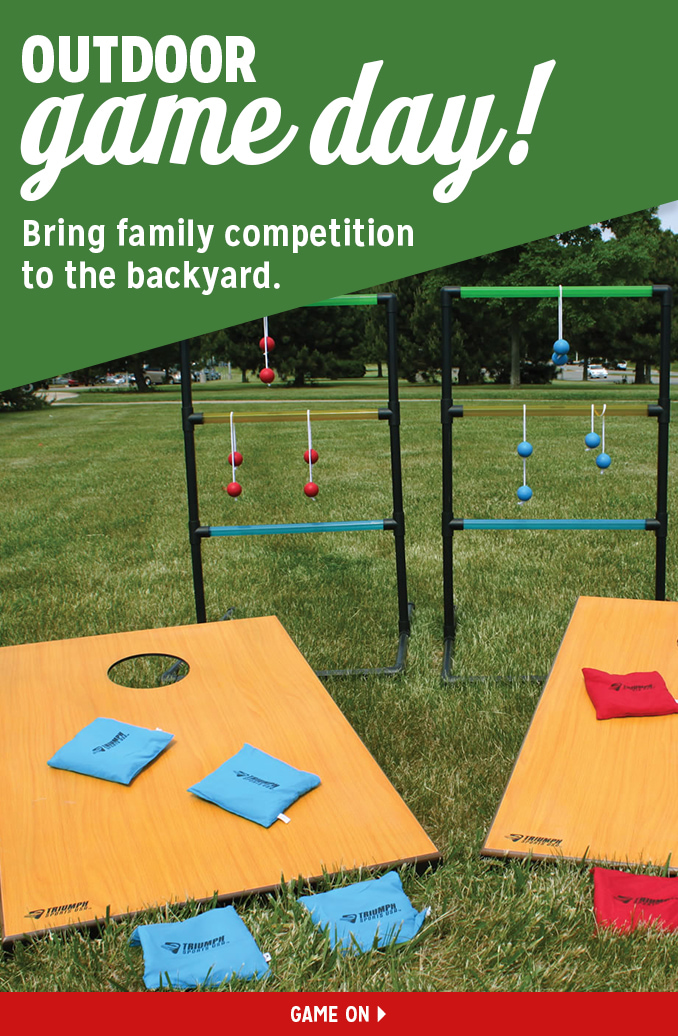 OUTDOOR game day! Bring family competition to the backyard. | GAME ON