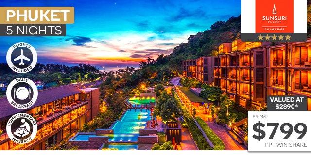 5 Nights Stay at Sunsuri Phuket with Flights