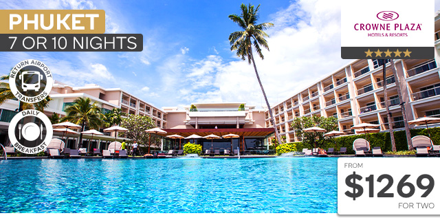 7 or 10 Nights at Crowne Plaza Phuket Panwa Beach