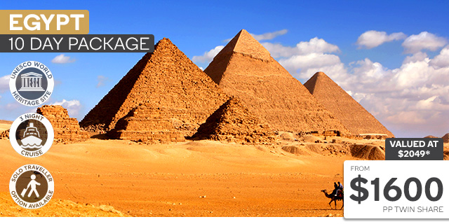 10 Day Cairo & Nile Cruise Plus Hurghada Red Sea Package