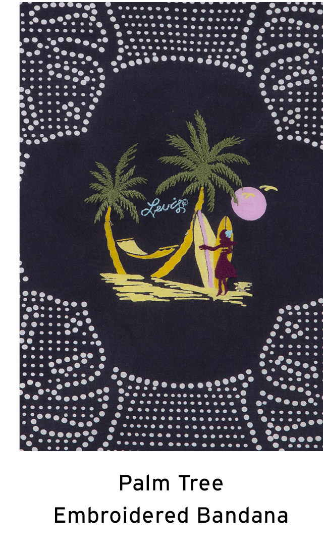 PALM TREE EMBROIDERED BANDANA