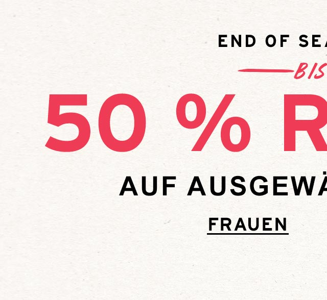 END OF SEASON SALE: FRAUEN