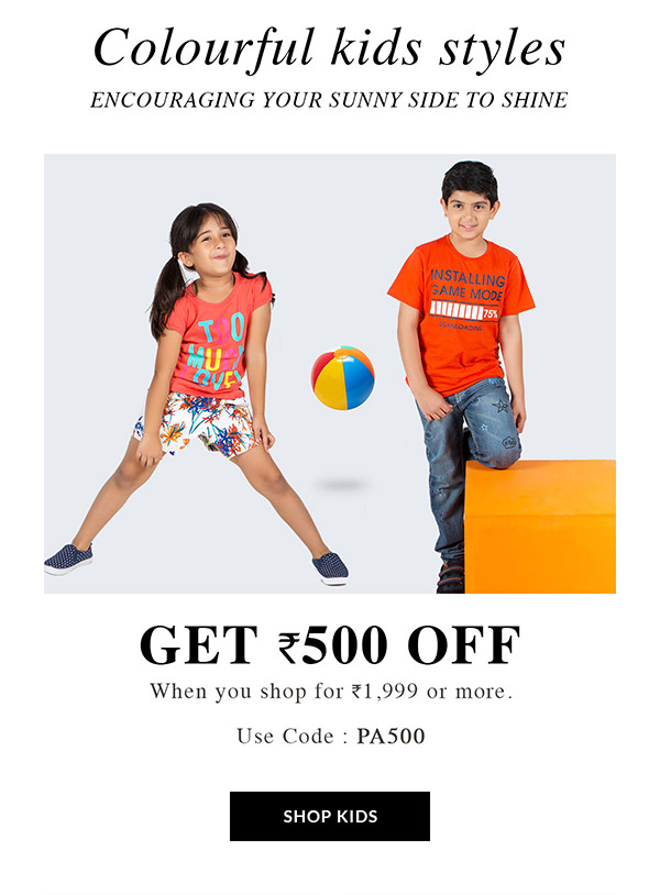 Colourful kids styles