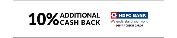 10% ADDITIONAL CASH BACK