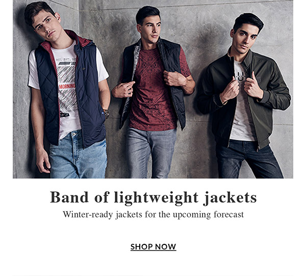 Band of lightweight jackets