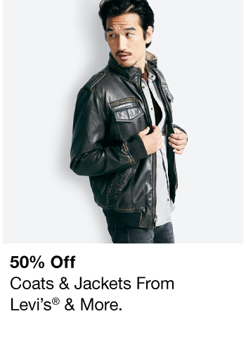 50% off, Coats and Jackets From Levi's and More
