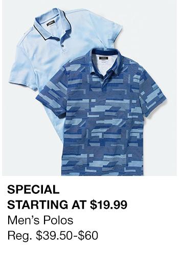 Special Starting at $19.99, Men's Polos Reg. $39.50-$60