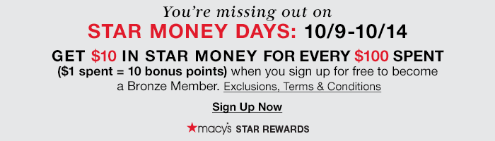 You're Missing Out On Star Money Days!