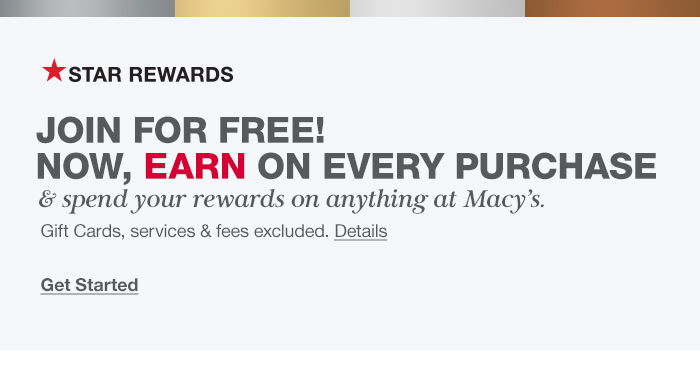 Star Rewards, Join for Free