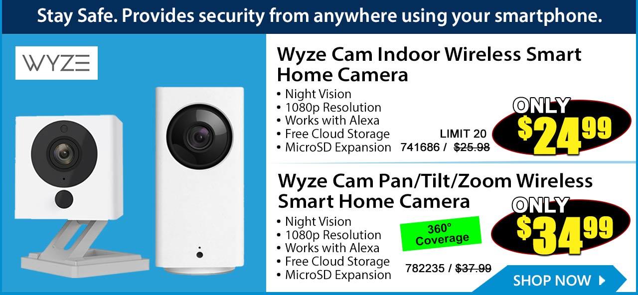 Stay safe  $24 Wyze Cam Wireless Smart Camera - Micro Center