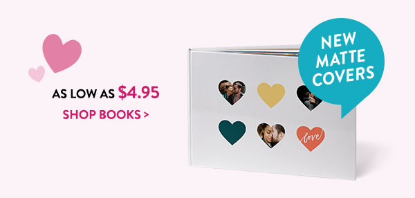 As low as $4.95 | New matte covers | Shop books >