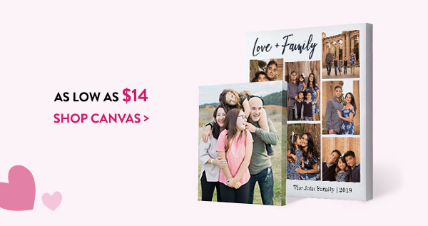 As low as $14 | Shop canvas >