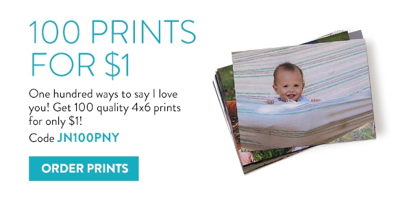 100 Prints for $1 | One hundred ways to say I love you! | Get 100 quality 4x6 prints for only $1! Code JN100PNY | Order Prints